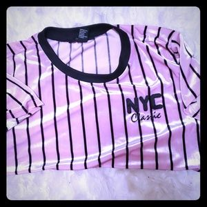 NYC forever 21 half shirt